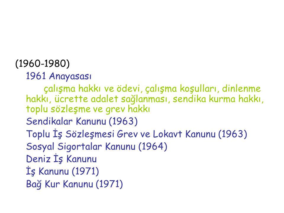 (1960-1980) 1961 Anayasası.
