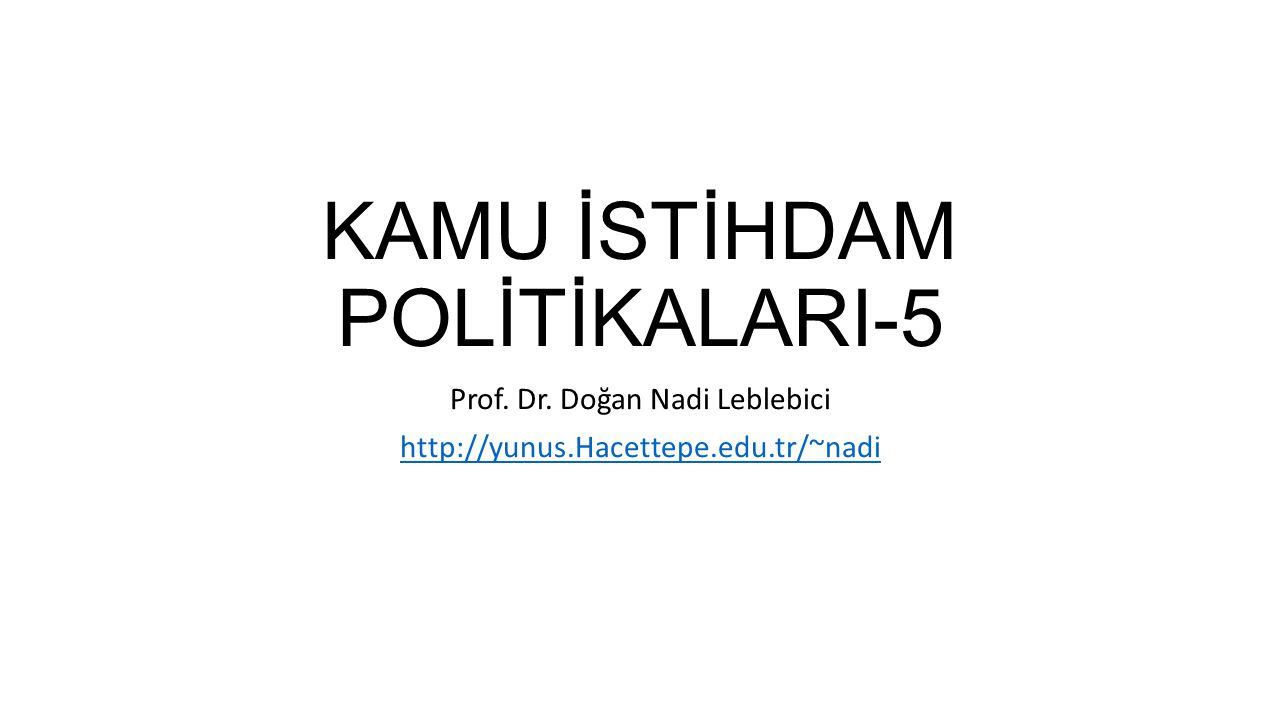 KAMU İSTİHDAM POLİTİKALARI-5