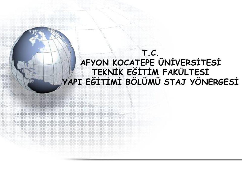 AFYON KOCATEPE ÜNİVERSİTESİ TEKNİK EĞİTİM FAKÜLTESİ