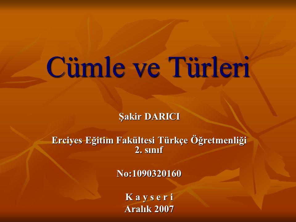 Erciyes Eğitim Fakültesi Türkçe Öğretmenliği 2. sınıf