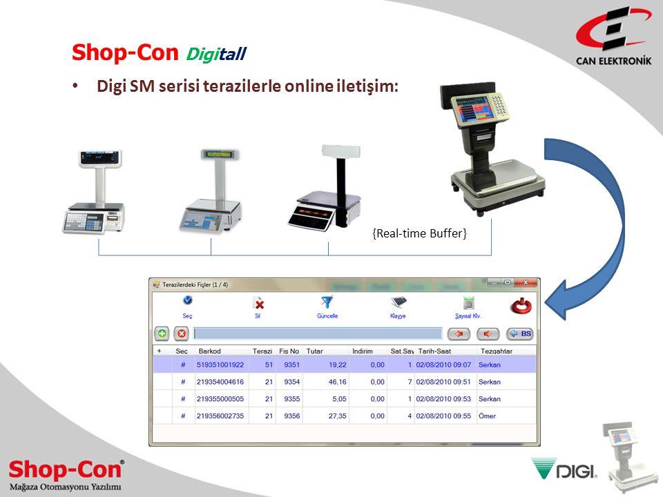 Shop-Con Digitall Digi SM serisi terazilerle online iletişim: