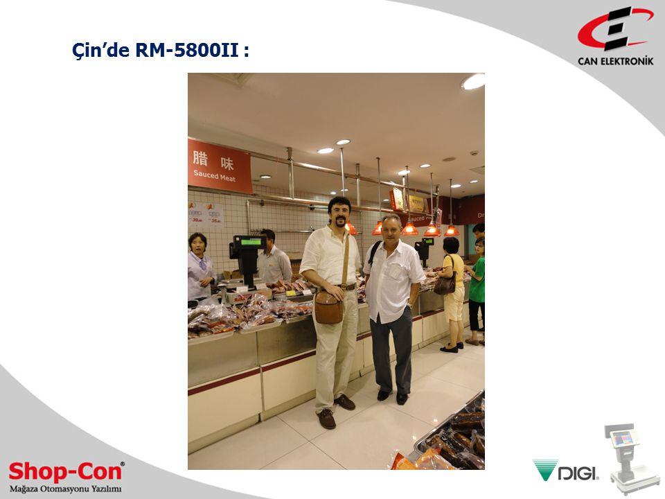 Çin'de RM-5800II :