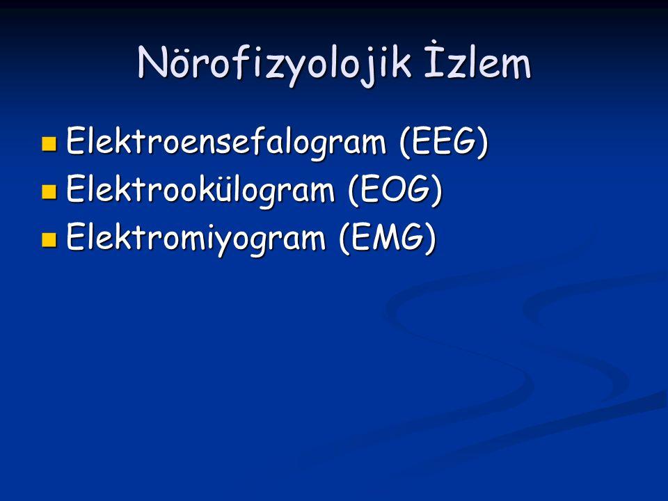 Nörofizyolojik İzlem Elektroensefalogram (EEG) Elektrookülogram (EOG)