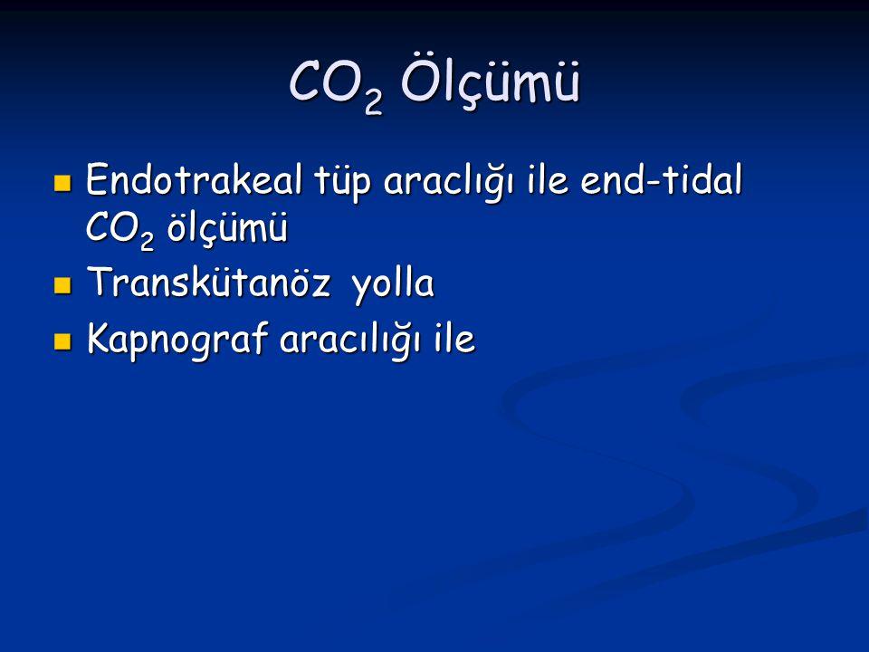 CO2 Ölçümü Endotrakeal tüp araclığı ile end-tidal CO2 ölçümü