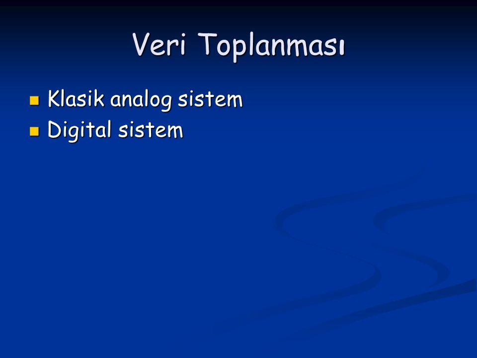 Veri Toplanması Klasik analog sistem Digital sistem