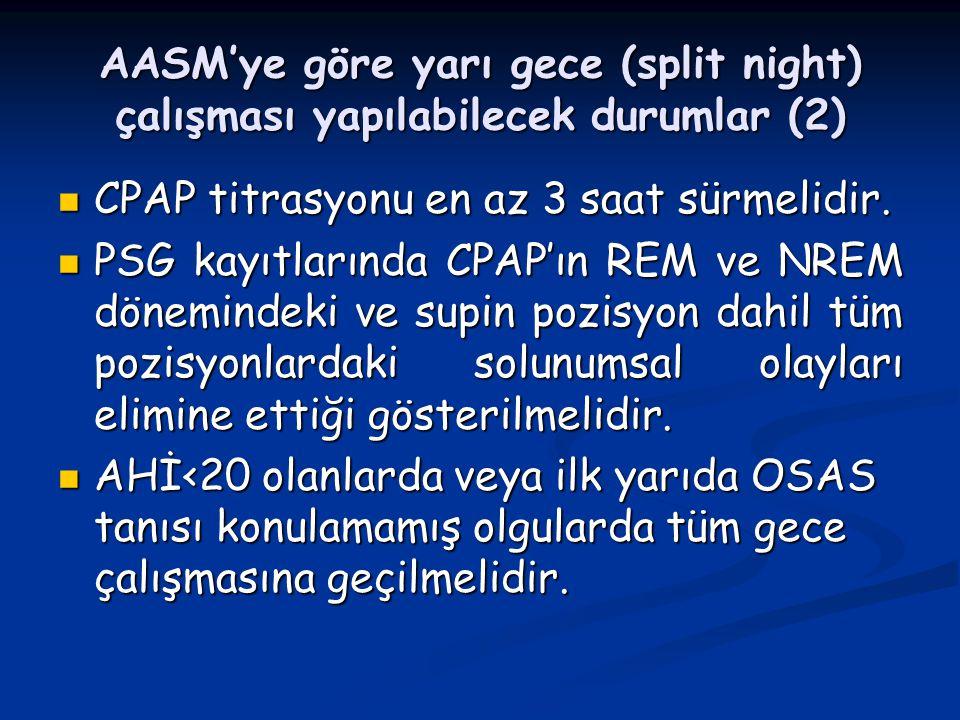 AASM'ye göre yarı gece (split night) çalışması yapılabilecek durumlar (2)