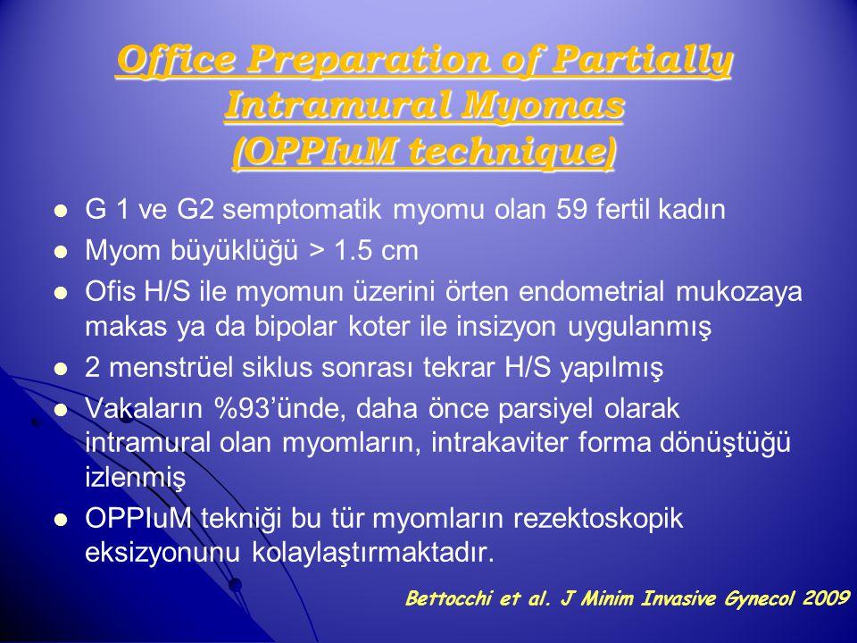 Office Preparation of Partially Intramural Myomas (OPPIuM technique)