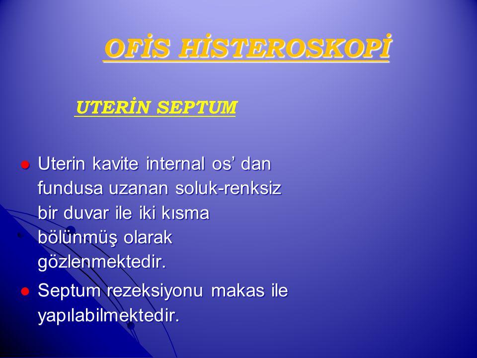 OFİS HİSTEROSKOPİ UTERİN SEPTUM