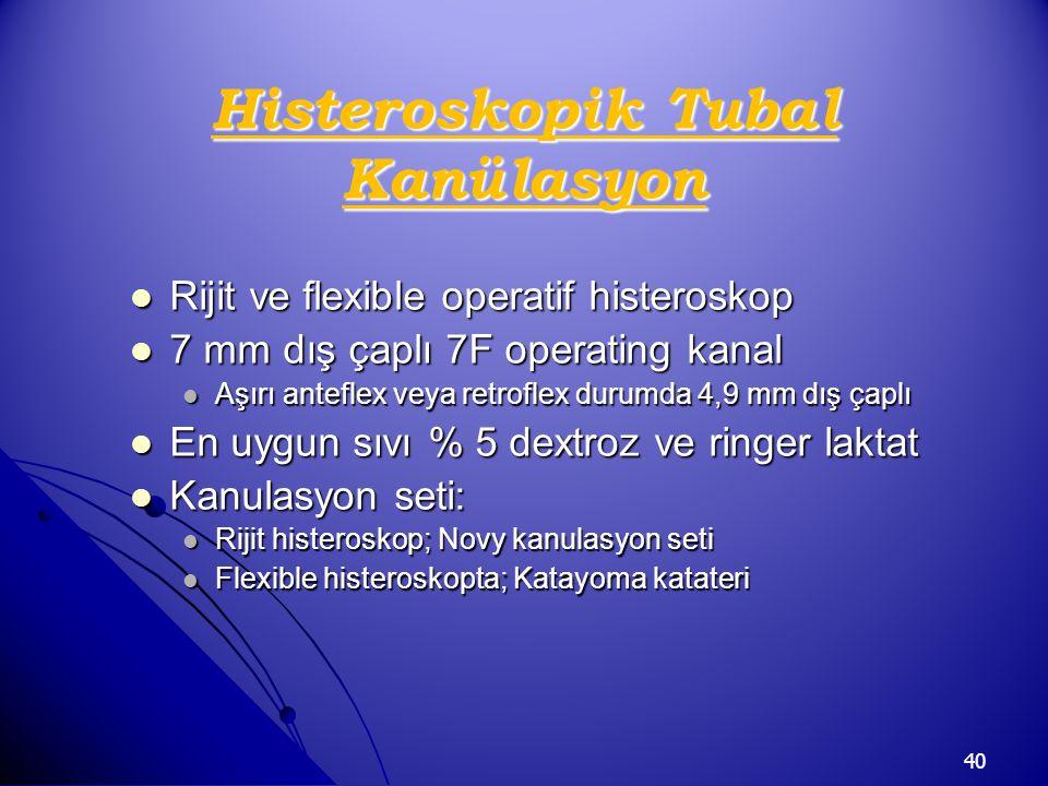 Histeroskopik Tubal Kanülasyon