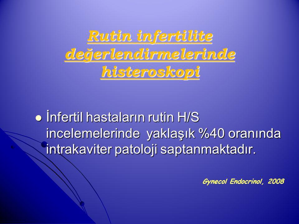 Rutin infertilite değerlendirmelerinde histeroskopi