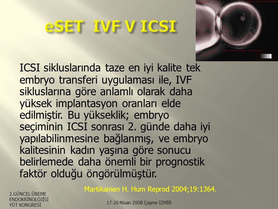 eSET IVF V ICSI