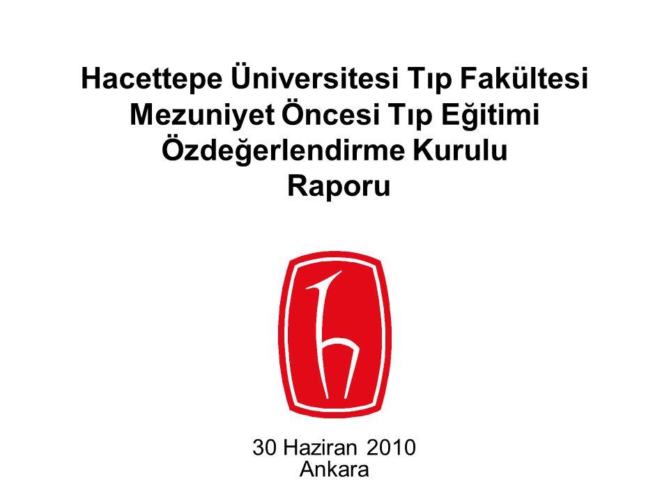 Hacettepe Üniversitesi Tıp Fakültesi Mezuniyet Öncesi Tıp Eğitimi Özdeğerlendirme Kurulu Raporu