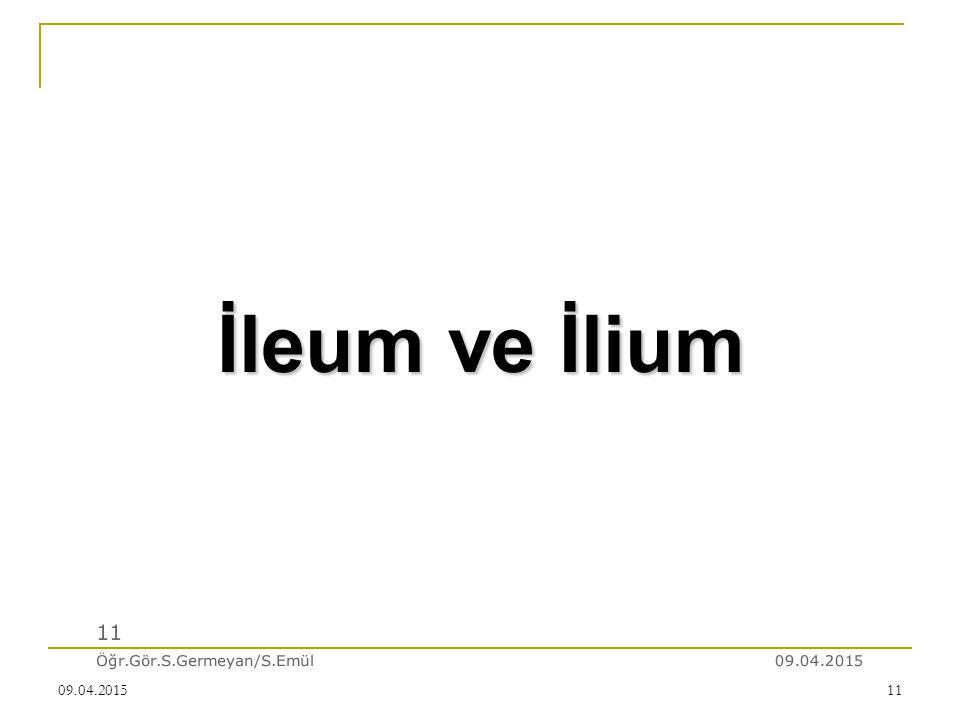 İleum ve İlium 11 Öğr.Gör.S.Germeyan/S.Emül 10.04.2017 10.04.2017
