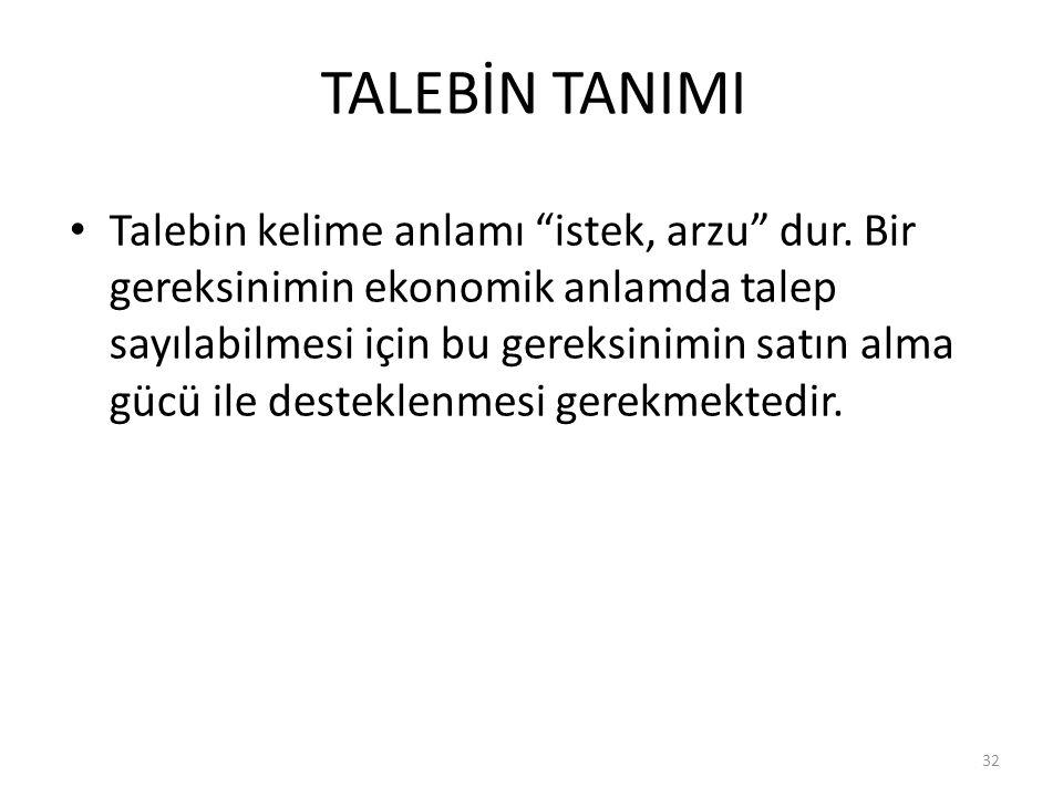 TALEBİN TANIMI