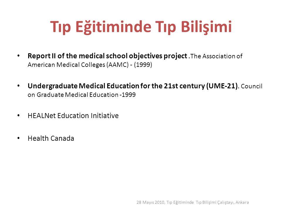 Tıp Eğitiminde Tıp Bilişimi