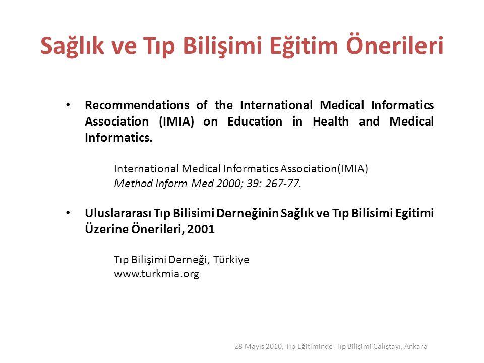 Sağlık ve Tıp Bilişimi Eğitim Önerileri