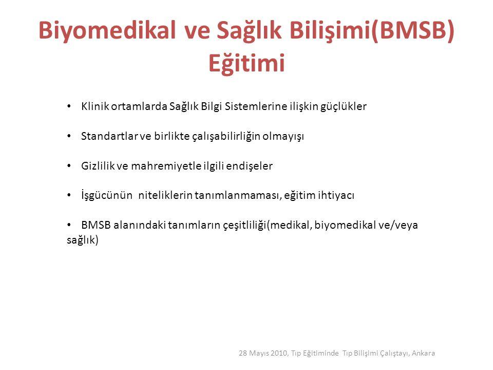 Biyomedikal ve Sağlık Bilişimi(BMSB) Eğitimi