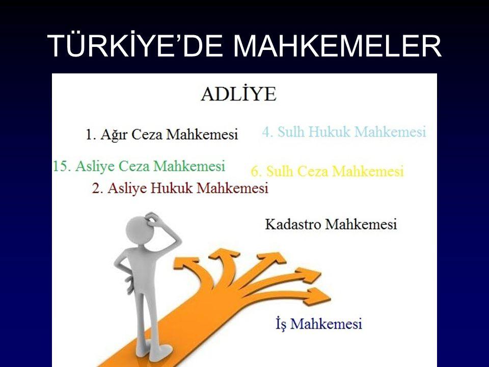 TÜRKİYE'DE MAHKEMELER