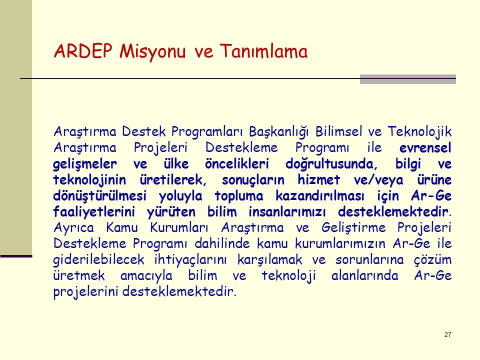ARDEP Misyonu ve Tanımlama