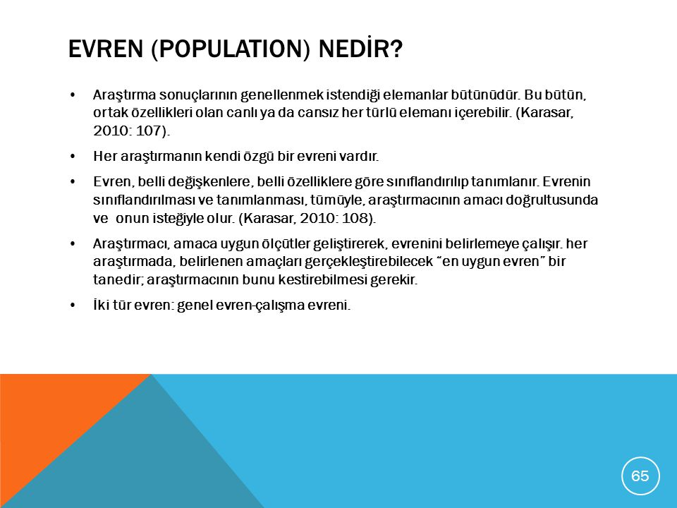 EVREN (POPULATION) NEDİR