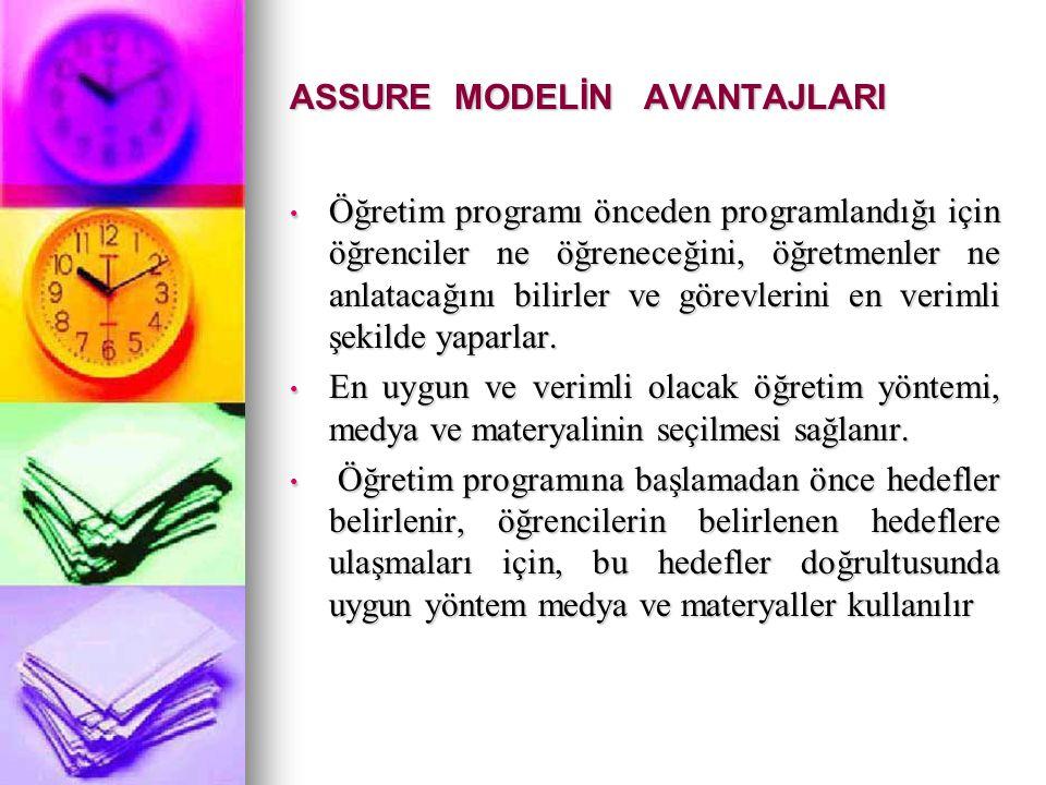 ASSURE MODELİN AVANTAJLARI