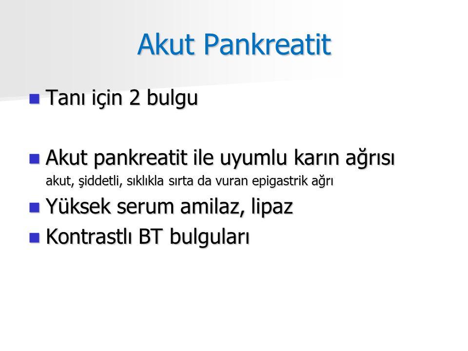 Akut Pankreatit Tanı için 2 bulgu