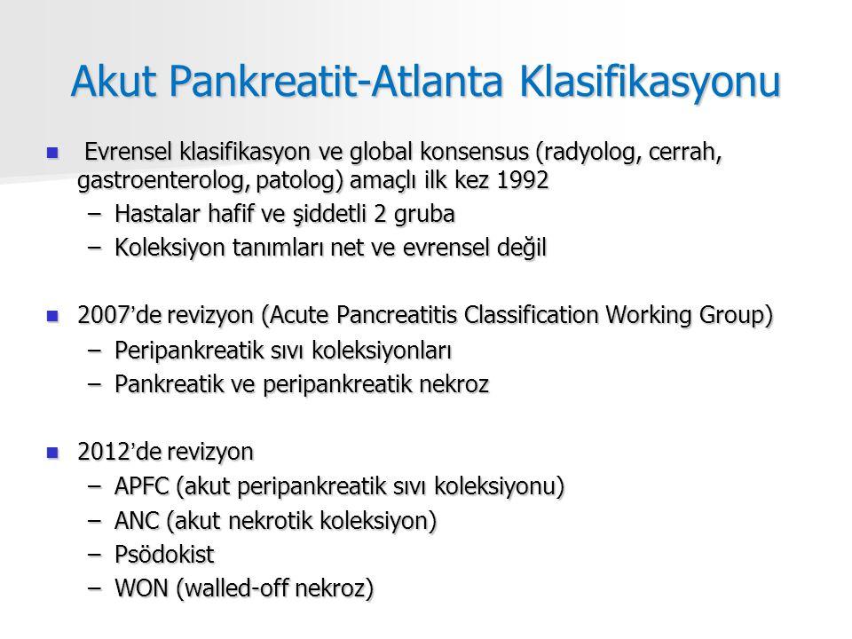 Akut Pankreatit-Atlanta Klasifikasyonu