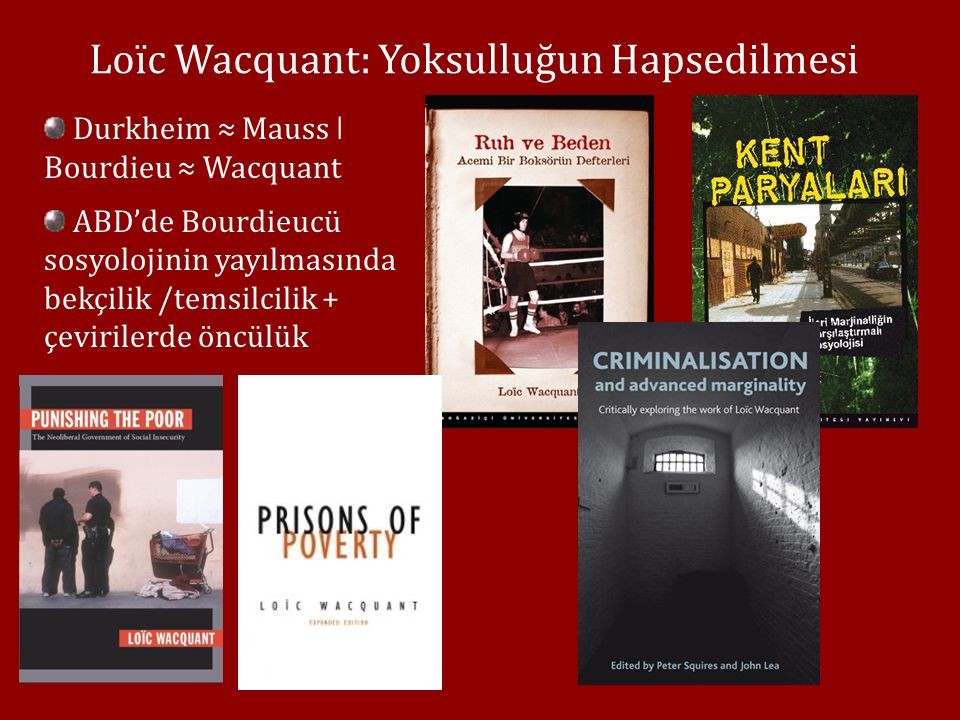 Loïc Wacquant: Yoksulluğun Hapsedilmesi