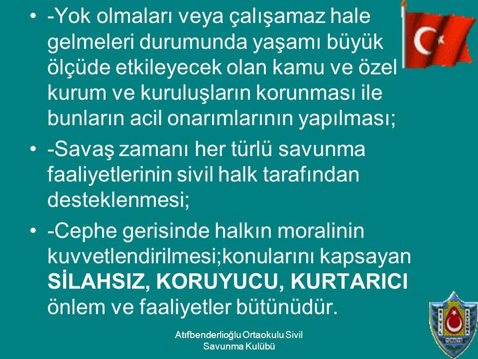 Atıfbenderlioğlu Ortaokulu Sivil Savunma Kulübü
