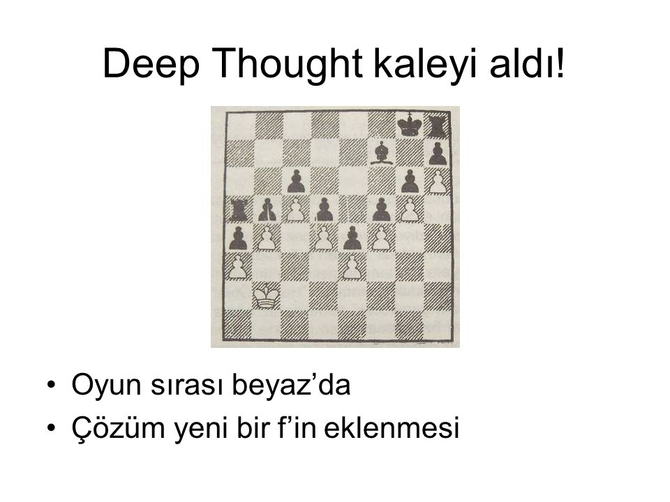 Deep Thought kaleyi aldı!