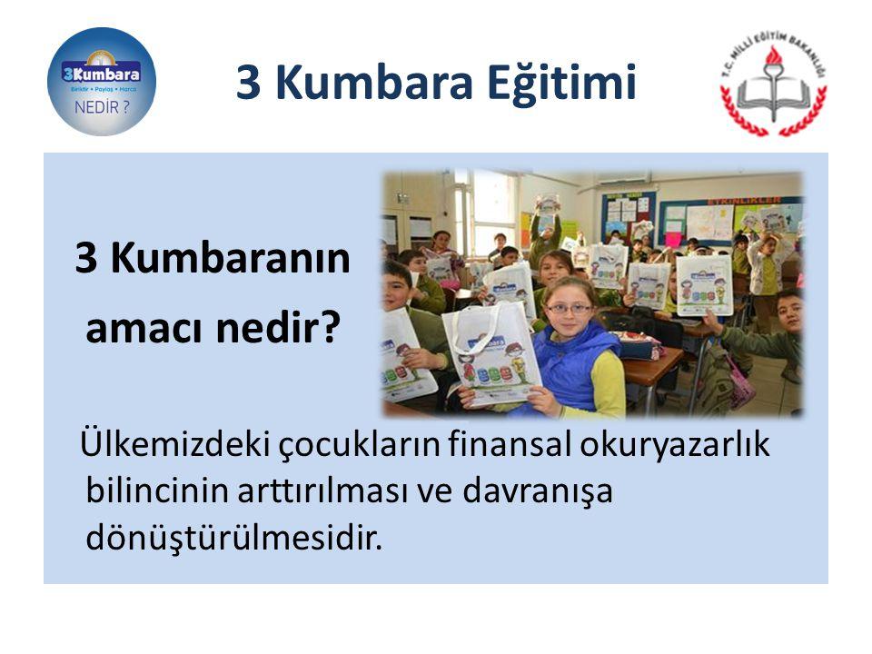 3 Kumbara Eğitimi 3 Kumbaranın amacı nedir