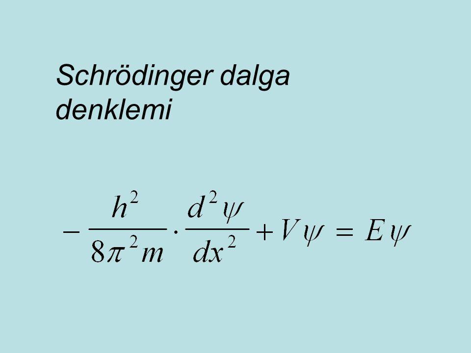 Schrödinger dalga denklemi