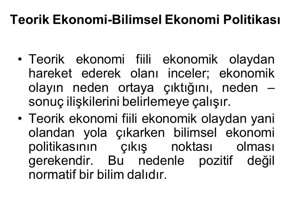 Teorik Ekonomi-Bilimsel Ekonomi Politikası