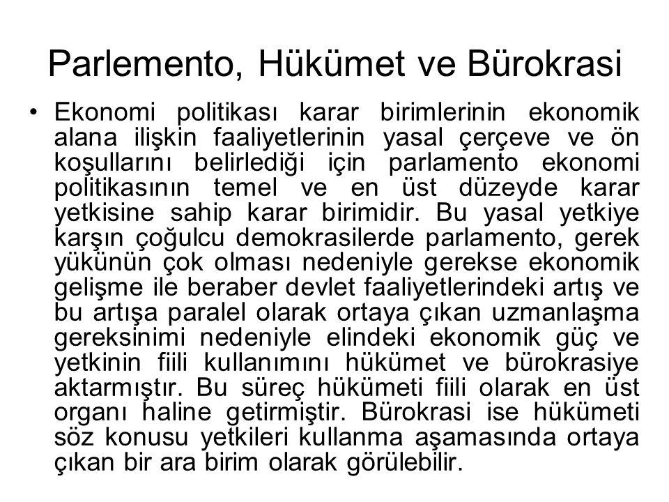 Parlemento, Hükümet ve Bürokrasi