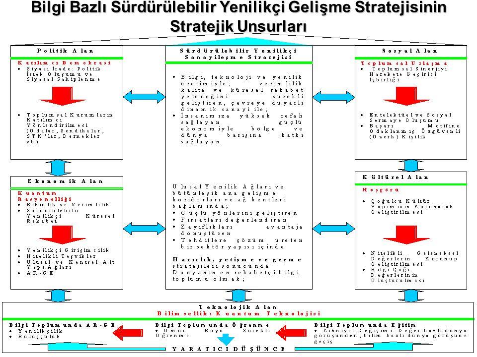 Bilgi Bazlı Sürdürülebilir Yenilikçi Gelişme Stratejisinin Stratejik Unsurları