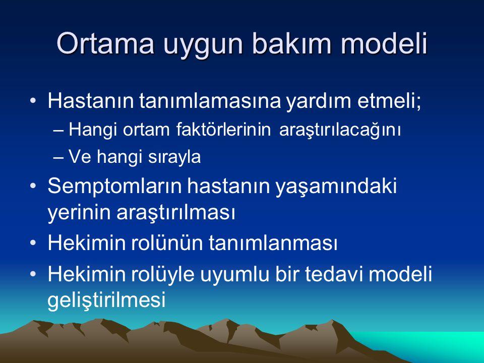 Ortama uygun bakım modeli