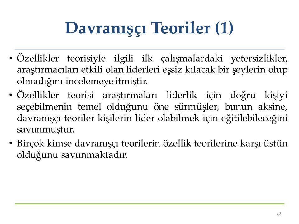 Davranışçı Teoriler (1)