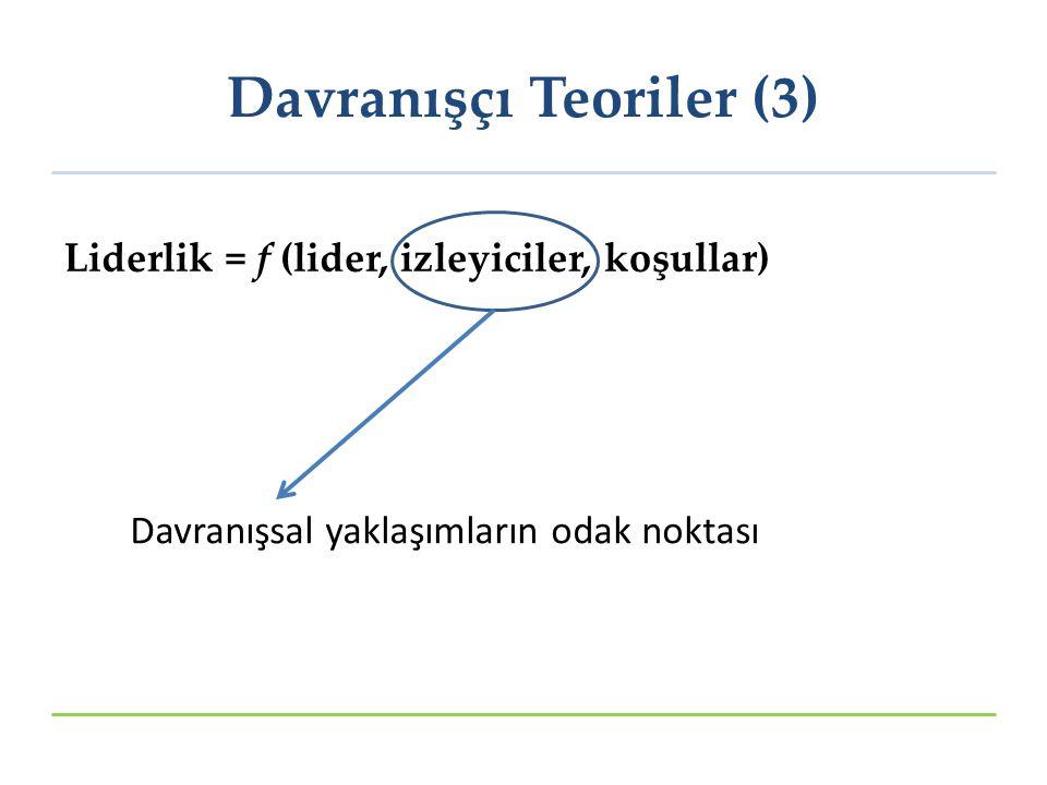 Davranışçı Teoriler (3)