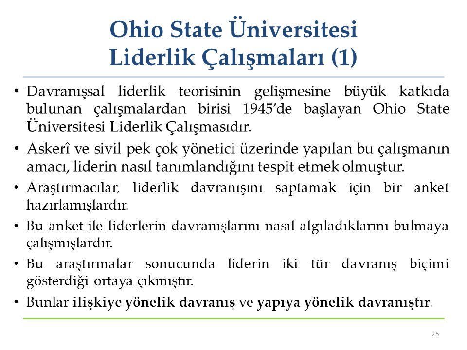 Ohio State Üniversitesi Liderlik Çalışmaları (1)