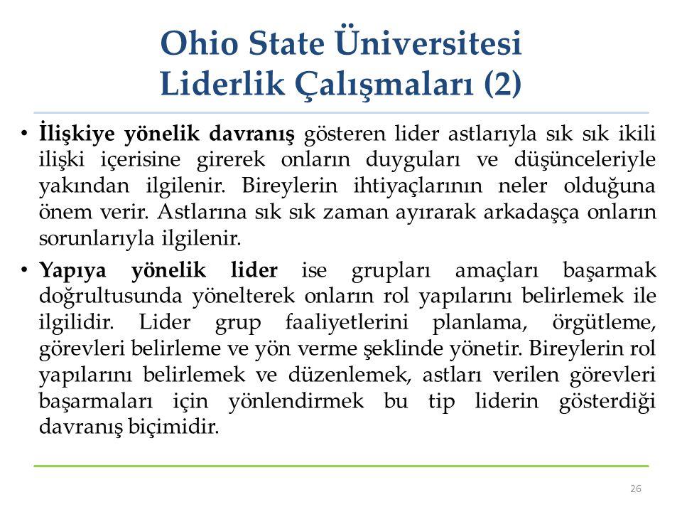 Ohio State Üniversitesi Liderlik Çalışmaları (2)