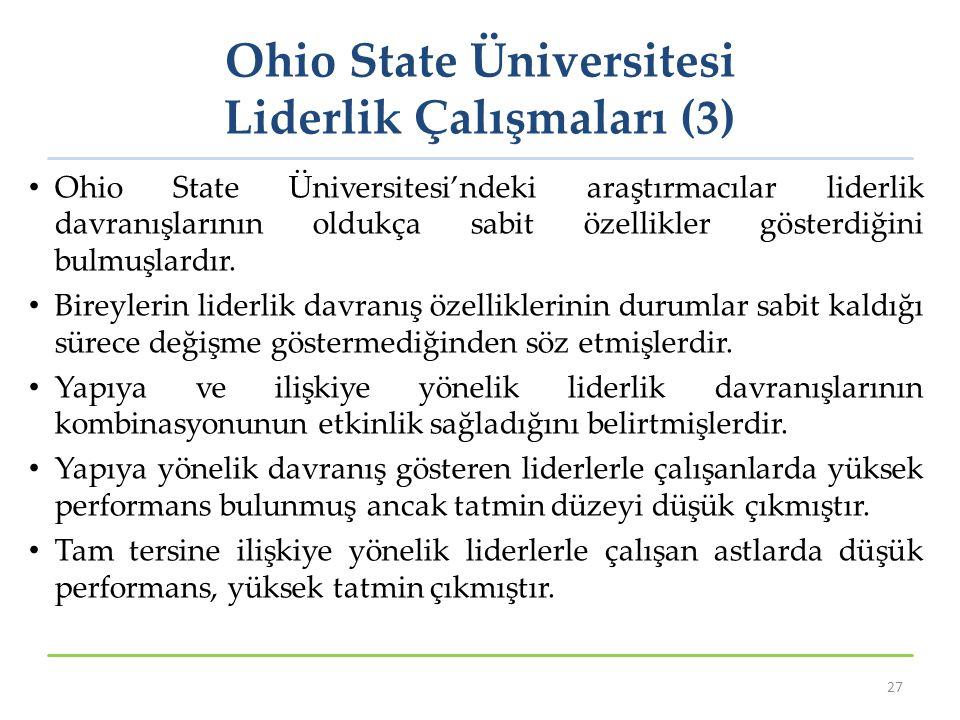 Ohio State Üniversitesi Liderlik Çalışmaları (3)
