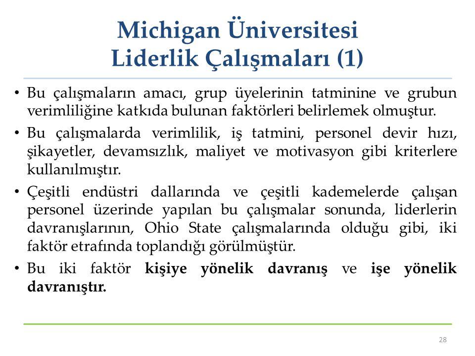 Michigan Üniversitesi Liderlik Çalışmaları (1)