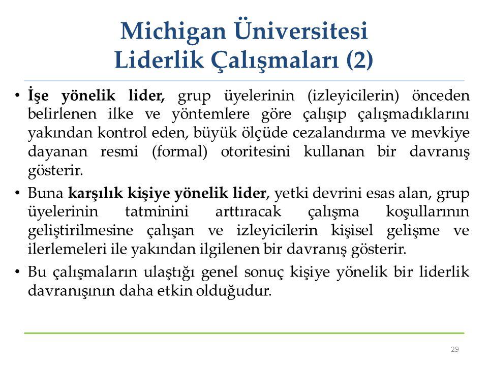 Michigan Üniversitesi Liderlik Çalışmaları (2)