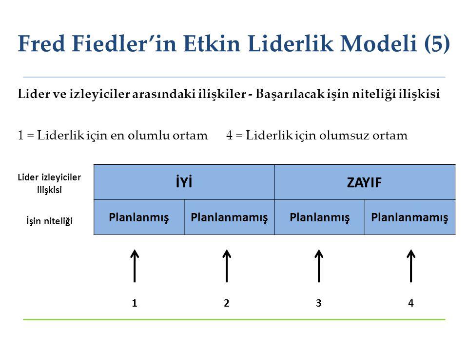 Fred Fiedler'in Etkin Liderlik Modeli (5)