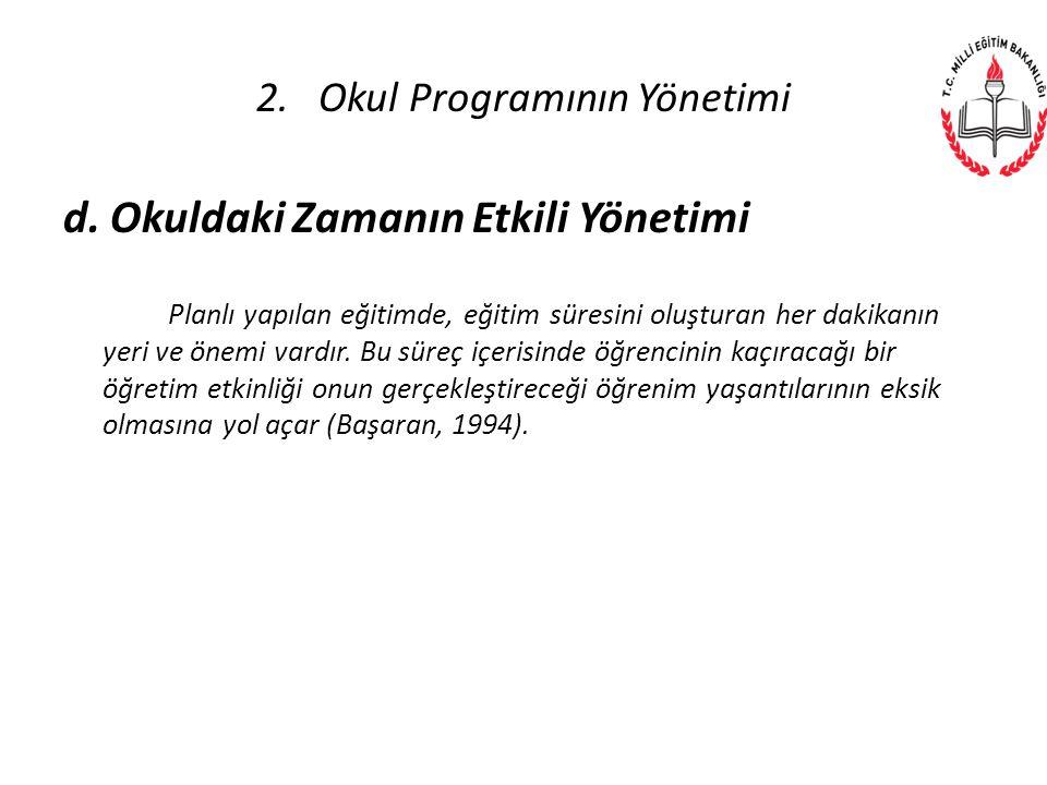 2. Okul Programının Yönetimi