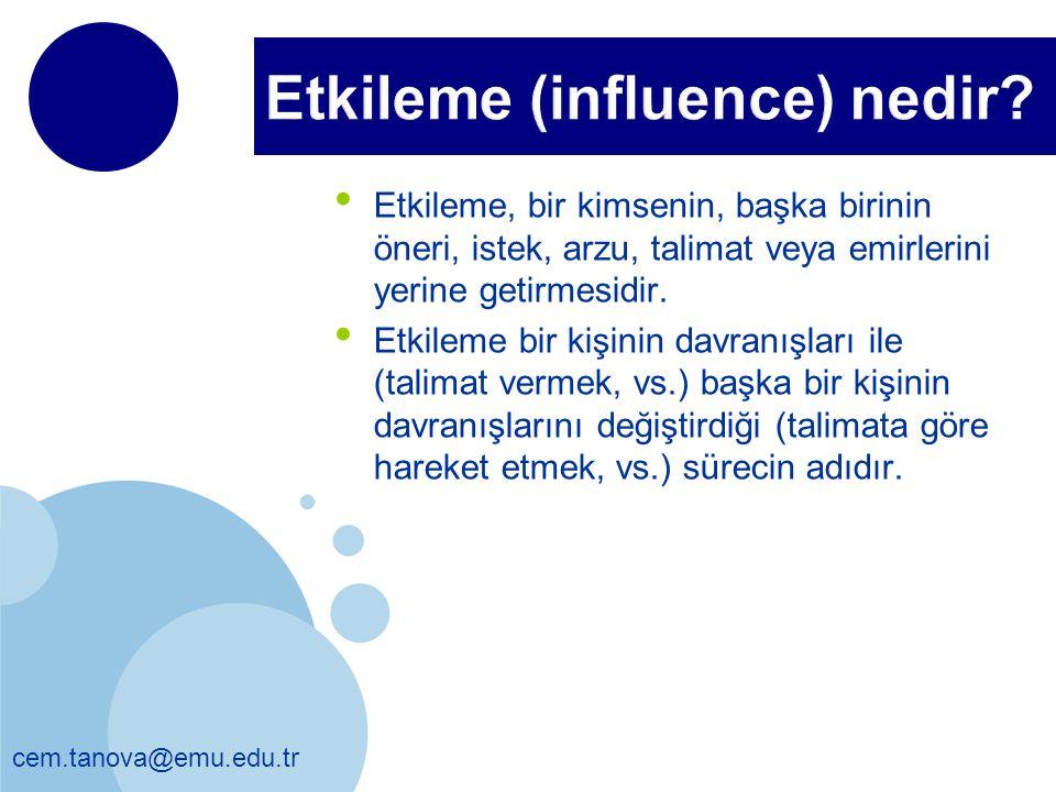 Etkileme (influence) nedir