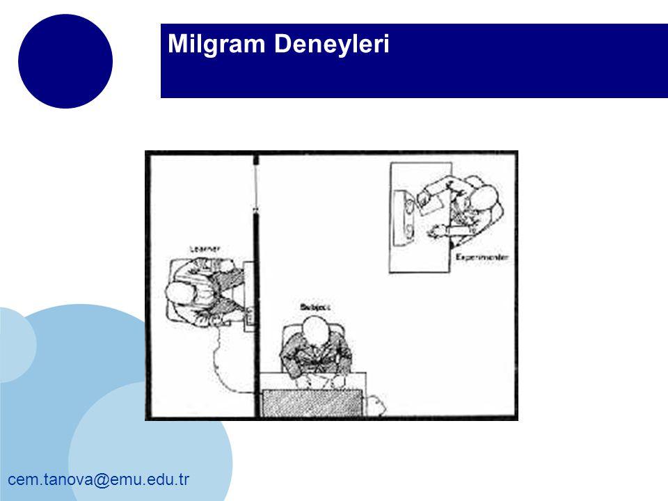 Milgram Deneyleri