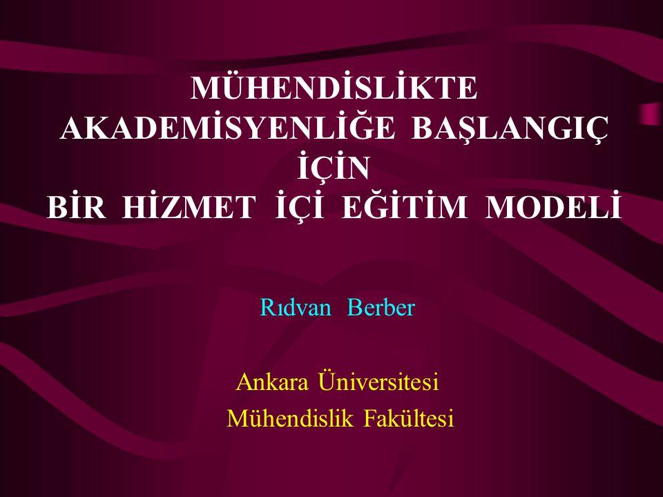 Rıdvan Berber Ankara Üniversitesi Mühendislik Fakültesi