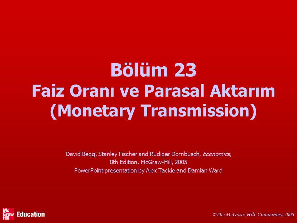 Bu bölümde Merkez Bankası (MB) para arzını nasıl değiştirir