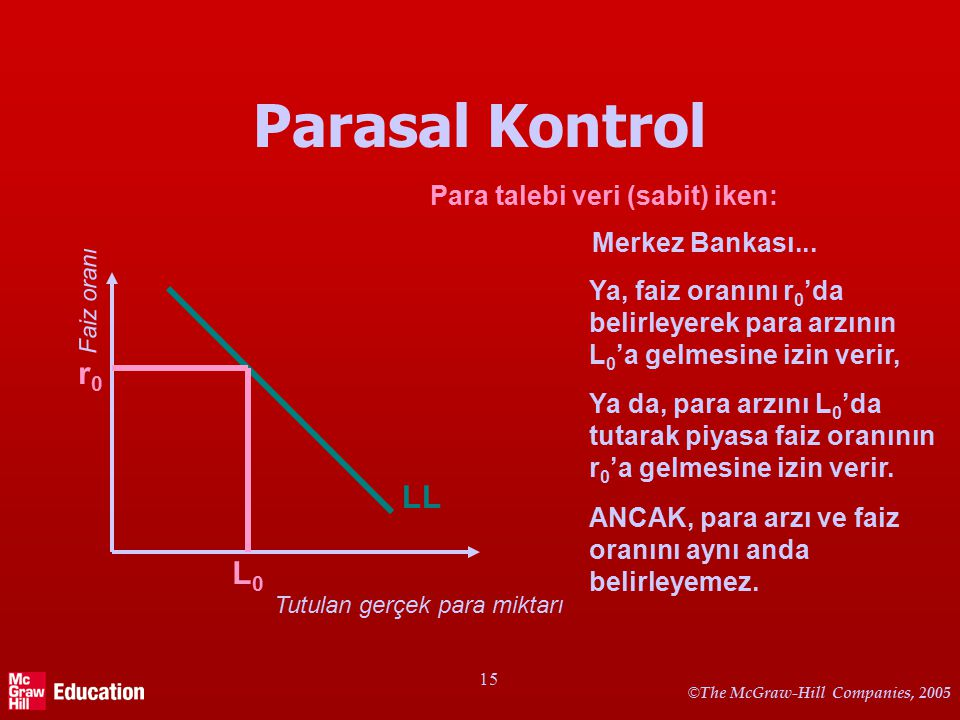 Parasal Kontrol – birtakım notlar
